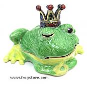 Winking Frog Prince Jewel Box