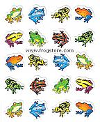 Colorful Rainforest Frogs Stickers (120)