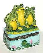 No Evil Frogs Porcelain Box