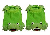 Knit Frog Baby Booties