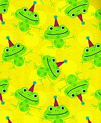 Frogs in Party Hats Gift Wrap