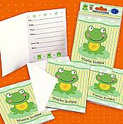 Froggy Frog Invitations, pk/8