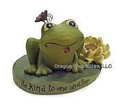 """Be kind to one another"" Frog Figurine"