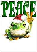 Peace Frogs Holiday Card