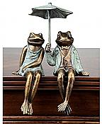 Sophisticated Frog Couple Shelf Sitter