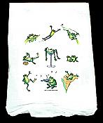 Party Frogs Flour Sacking Kitchen Towel