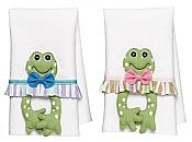 His-n-Hers Froggy Guest Towels