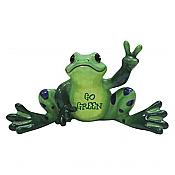 Peace Frogs: Go Green Frog Figurine