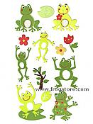 Smiling Frog Stickers