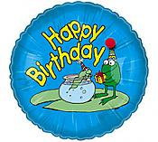 Happy Birthday Frog & Tadpole Mylar Balloon