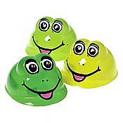 Plastic Smiling Frog Costume Hats (pk/12)
