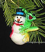 Kitty's Critters Frog Ornament: Frosty