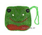 Beaded Frog-Face Coin Purse