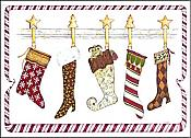 """Stockings Were Hung..."" Frog Holiday Cards (10)"