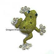 Fancy Green Frog Brooch