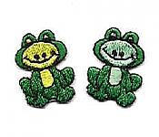 Whimsical Frog Iron-Ons (Pair)