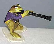 Porcelain Miniature: Clarinet Frog