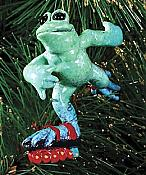 Kitty's Critters Frog Ornament: Scat