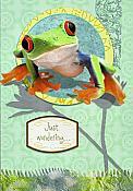 """Wart's Hoppinin'?"" Treefrog Card"