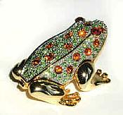 Multicolored Crystal Frog Jewel Box