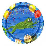 "Frog Swamp Party Small 7"" Plates, pk/8"