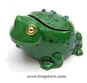 Whimsical Jeweled Frog Box