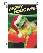 "Mr. Holiday Frog ""Happy Holidays!"" House Flag"