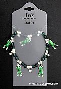 Green Frog Beaded Stretch Anklet/Bracelet