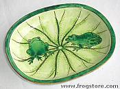 Enameled Frog Dish