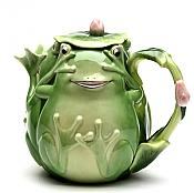 Fairy Frog Porcelain Tea Pot