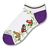 Tree Frog Friends Shortie Socks