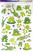 Cute Glitter Belly Frog Stickers