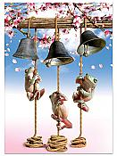 Wedding Bells Frog Congratulations Card