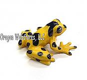 """Zeteki"" Mini Porcelain Panamanian Golden Frog"