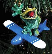Kitty's Critters Frog Ornament: Orville