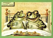 Breakfast in Bed Frog Anniversary Card