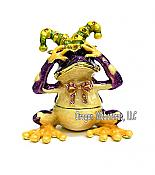 See No Evil Purple Jester Frog Jewel Box
