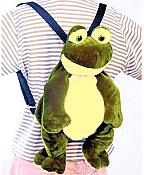 Plush Frog Backpack