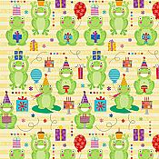 """Happy Birthday Celebrate"" Frog Wrapping Paper"