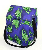 Funny Frogs Blue Lunch Sack