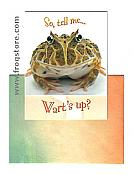 """Wart's Up?"" Frog Greeting Card"
