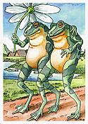 Frogs Best Friends Card