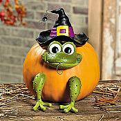 Frog Pumpkin Poke-In Halloween Decor