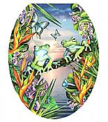 "Moonlight Frogs ""Toilet Tattoos"" Seat Decal (Round)"