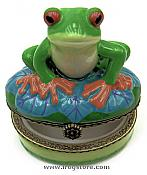 Red-Eyed Treefrog Porcelain Box