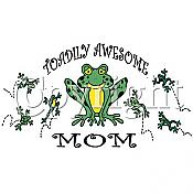 """Toadily Awesome Mom"" Frog T-Shirt"