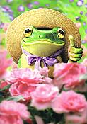 Frog Gardener Wonderful Thanks Card