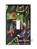 Red Eyed Tree Frog Single Switchplate