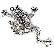 Incredibly Huge Sparkly Crystal Frog Pin