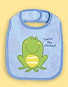 """Tastes Like Chicken"" Frog Baby Bib"